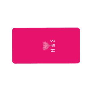 """1,25 pétalos florales rosados miniatura de """" x2.75 etiquetas de dirección"""