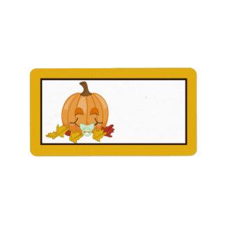 1,25 vagos de la calabaza de la caída del otoño de etiqueta de dirección