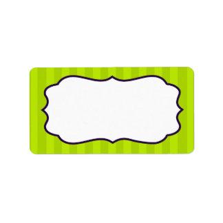 1,25 verdes limas y púrpuras de la dirección del etiquetas de dirección