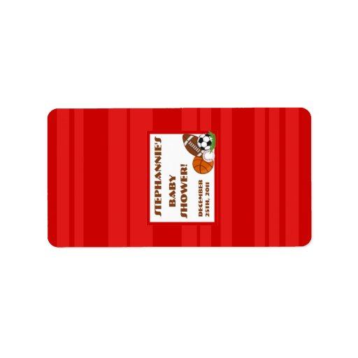 "1.25""x2.75"" Hershey's Miniature All Star Red Label"