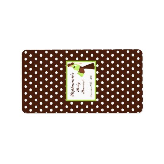 "1.25""x2.75"" Hershey's Miniature Green Mod Mom Polk Label"