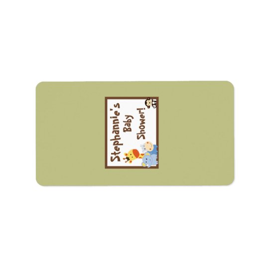 "1.25""x2.75"" Hershey's Miniature Jungle Play Label"