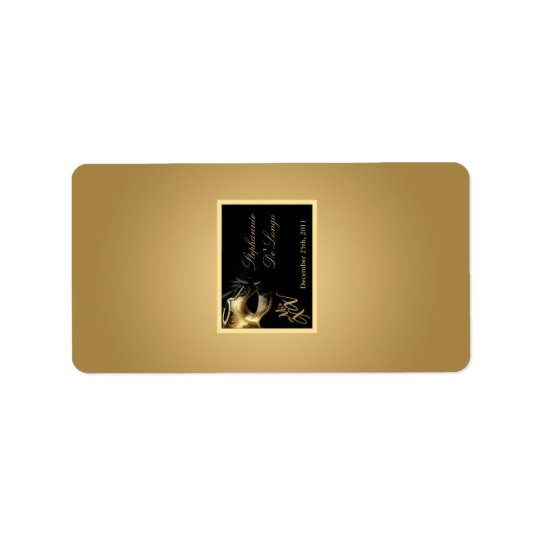 "1.25""x2.75"" Hershey's Miniature Mis XV Gold Label"