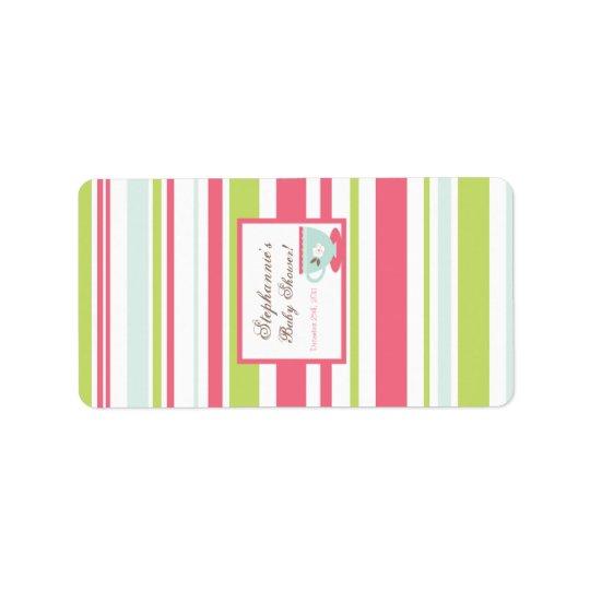 "1.25""x2.75"" Hershey's Miniature Tea Party Pink Label"
