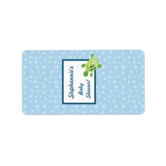 "1.25""x2.75"" Hershey's Miniature Turtle Reef Ocean Address Label"