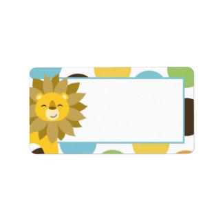 "1.25""x2.75"" Jungle King Lion Print Mailing Address Label"
