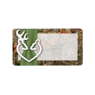 "1.25""x2.75"" Mailing Address Deer Couple Doe Buck Address Label"