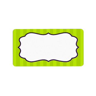 "1.25""x2.75"" Mailing Address Lime Green & Purple Label"