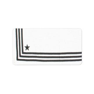 "1.25""x2.75"" Mailing Address Navy Summer Dress Whit Label"