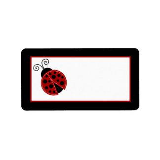 """1.25""""x2.75"""" Mailing Address Red Ladybug Label"""