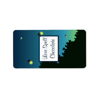 "1.25"" x 2.75"" Hershey's Fireflies and Mason Jars Label"