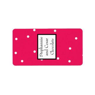 "1.25"" x 2.75"" Hershey's Hot Pink/Black Giraffe Lov Label"