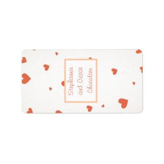 """1.25"""" x 2.75"""" Hershey's Miniature Penguin Love Label"""