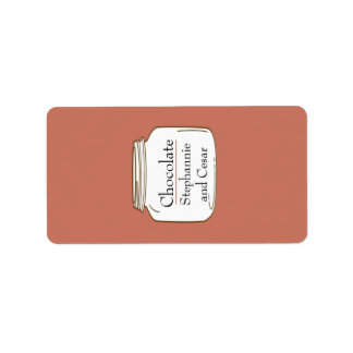 "1.25"" x 2.75"" Hershey's Pink/Brown Mason Jars Label"