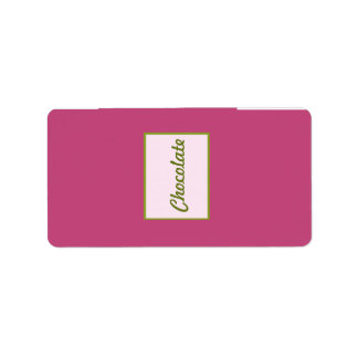 "1.25"" x 2.75"" Hershey's Pink Orchid Long Stem Flow Label"