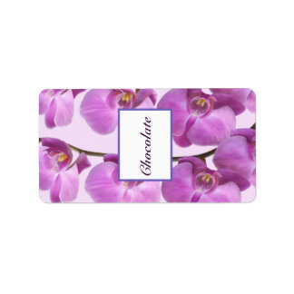 "1.25"" x 2.75"" Hershey's Purple Orchids on Stem Label"