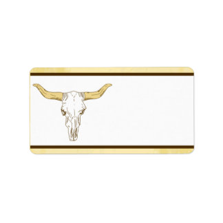 "1.25"" x 2.75"" Mailing Address Cowboy Rodeo Steer S Address Label"