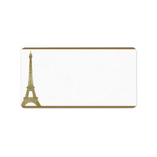 "1.25"" x 2.75"" Mailing Address Vintage Paris Address Label"