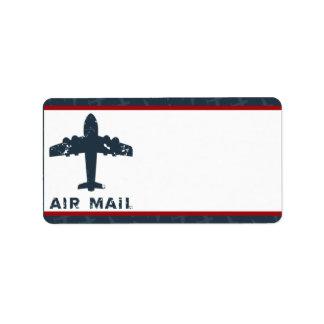 """1,25"""" x 2,75"""" vuelo de envío del aeroplano de la d etiquetas de dirección"""