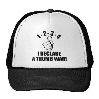 1-2-3-4 declaro un B-W de la guerra del pulgar Gorros
