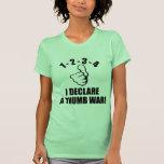1-2-3-4 declaro un B-W de la guerra del pulgar Camiseta