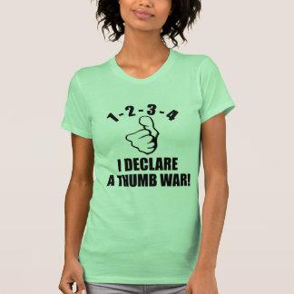 1-2-3-4 I Declare A Thumb War B-W Tee Shirt
