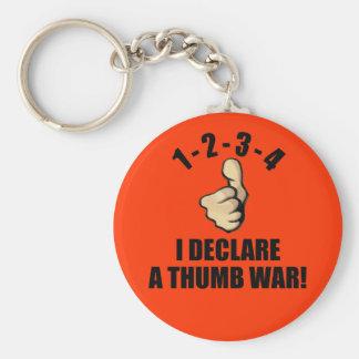1-2-3-4 I Declare A Thumb War Keychain