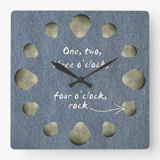 1-2-3-4 roca del en punto - reloj dril de algodón