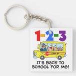1-2-3 Back to School Acrylic Key Chain