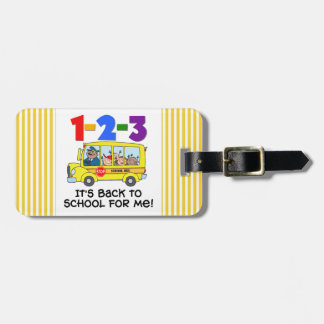 1-2-3 Back to School Bag Tag
