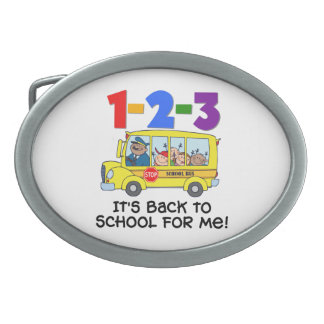 1-2-3 Back to School Belt Buckle