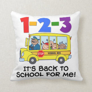 1-2-3 Back to School Throw Pillow