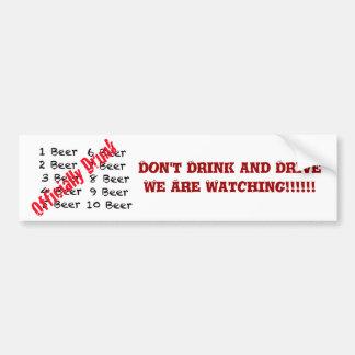 1,2,3, Beer Officially Drunk Bumper Sticker