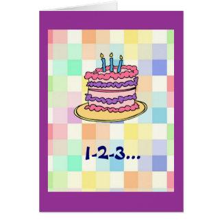 1-2-3...birthday ! greeting card