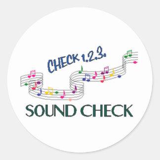1.2.3 Control de los sonidos Pegatina Redonda