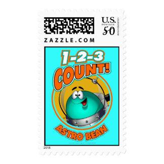 1-2-3 Count Astro Bean Postage