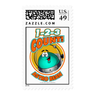 1-2-3 Count Astro Bean Stamps
