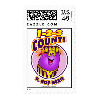 1-2-3 Count B. Bop Bean Postage Stamps