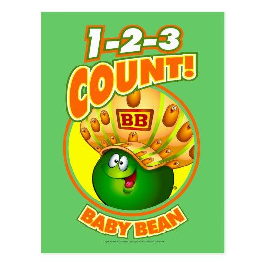 1-2-3 Count Baby Bean Postcard