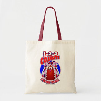 1-2-3 Count Sweet Bean Tote Bags