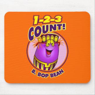 1-2-3 cuenta B. Bop Bean Alfombrilla De Ratones