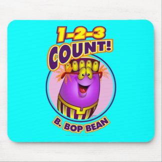 1-2-3 cuenta B. Bop Bean Mousepad