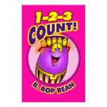 1-2-3 cuenta B. Bop Bean Papelería De Diseño