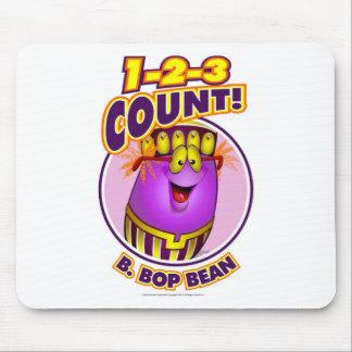 1-2-3 cuenta B. Bop Bean Tapete De Ratón