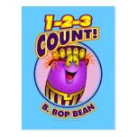 1-2-3 cuenta B. Bop Bean Tarjetas Postales