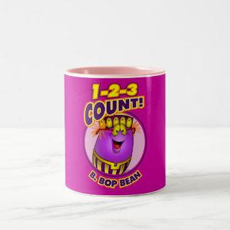 1-2-3 cuenta B. Bop Bean Tazas De Café