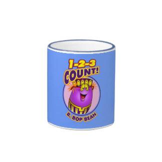 1-2-3 cuenta B. Bop Bean Taza De Café