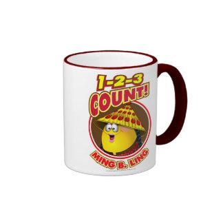 1-2-3 cuenta Ming B.Ling Tazas De Café