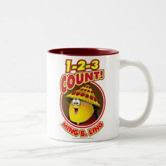 1-2-3 cuenta Ming B.Ling Taza De Café