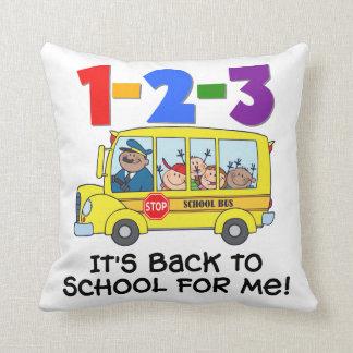 1-2-3 de nuevo a escuela cojín